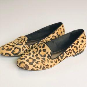 Kelly & Katie cheetah print leather flats - 7.5